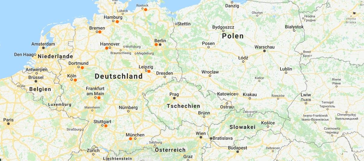 Flughäfen Deutschland Karte.Flughafen Transfer Deutschland Taxi Shuttle Service Zum Flughafen